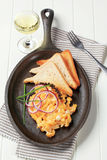 Scrambled eggs and toast Royalty Free Stock Photo