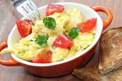 Scrambled eggs Royalty Free Stock Photo
