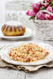 Scrambled eggs with tomatoes Royalty Free Stock Photo