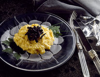 Scrambled eggs with truffles Royalty Free Stock Images