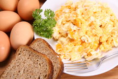 Scrambled Eggsv Royalty Free Stock Images