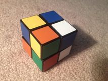 Scrambled Pocket cube Royalty Free Stock Images