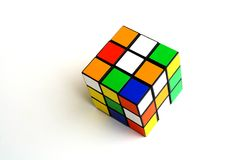 Scrambled rubik's cube Royalty Free Stock Images