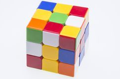 Scrambled Rubik's cube Stock Photo