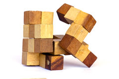 Scrambled Rubik's cube - Stock Image Royalty Free Stock Photo