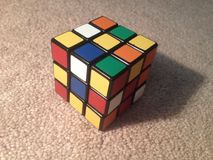 Scrambled Rubik's cube Stock Image