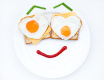 Scrambled with smile Royalty Free Stock Photography