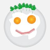 Scrambled in a Smile. Scrambled eggs great dish for breakfast Royalty Free Stock Images