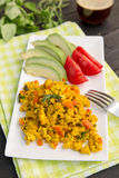 Scrambled Tofu Stock Photo