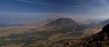 Scrambler na wierzchołku góra Wysoki odgórny widok Obrazy Royalty Free