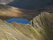 Scramblers on Striding Edge Royalty Free Stock Photo