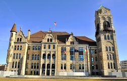 Scranton, PA. Lackawanna County Courthouse in the Center of Scranton Pennsylvania stock photography