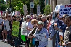 Scranton PA, protest mot Jeff Sessions 1 fotografering för bildbyråer