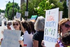 Scranton, PA, protest tegen Jeff Sessions 2 stock fotografie