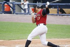 Scranton Wilkes Barre  Railriders� Alex Rodriguez Royalty Free Stock Photo