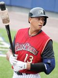 Scranton Wilkes Barre  Railriders� Alex Rodriguez Royalty Free Stock Image