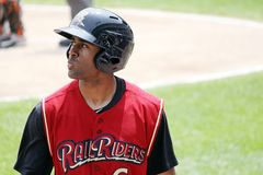Scranton Wilkes-Barre Railriders� Corey Patterson Royalty Free Stock Photo