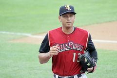 Scranton Wilkes Barre  Railriders' Alex Rodriguez Royalty Free Stock Images