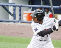 Scranton/Wilkes Barre Railriders Curtis Granderson. Scranton/Wilkes Barre Railriders' Curtis Granderson ready to hit Royalty Free Stock Images