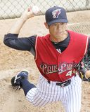 Scranton Wilkes Barre Railriders' pitcher Yoshinori Tateyam Stock Photography