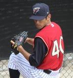 Scranton Wilkes Barre Railriders' pitcher Yoshinori Tateyam Stock Photography