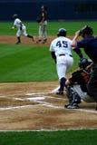 Scranton Wilkes-Barre Yankees batter. Wilkes Barre Scranton Yankees batter watches his hit Stock Photos