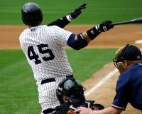 Scranton Wilkes-Barre Yankees batter. Scranton Wilkes Barre Yankees batter watches his hit Royalty Free Stock Photo