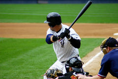 Scranton Wilkes-Barre Yankees batter. Scranton Wilkes Barre Yankees batter watches his hit Royalty Free Stock Images