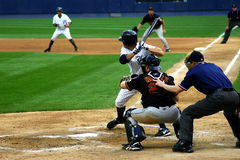 Scranton Wilkes-Barre Yankees batter. Wilkes Barre Scranton Yankees batter waits for a pitch Royalty Free Stock Photography