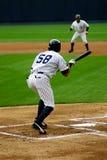 Scranton Wilkes-Barre Yankees batter. Wilkes Barre Scranton Yankees batter tries to bunt Stock Photo