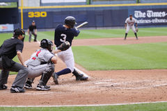 Scranton Wilkes Barre Yankees batter Daniel Brewer Stock Image