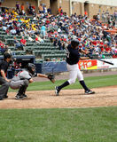 Scranton Wilkes Barre Yankees batter Jesus Montero. Swings at a pitch Stock Photo