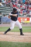 Scranton Wilkes Barre Yankees batter Jorge Vasquez. Swings at a pitch Stock Photos