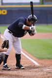 Scranton Wilkes Barre Yankees batter Jorge Vasquez. Moves away from an inside pitch Royalty Free Stock Photos