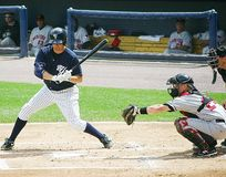Scranton Wilkes Barre Yankees batter Mike Lamb Royalty Free Stock Photos
