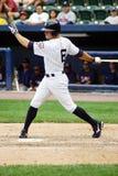 Scranton Wilkes Barre Yankees Brett Gardner. Scranton Wilkes Barre Yankees outfielder Brett Gardner swings at a pitch Royalty Free Stock Image