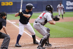 Scranton Wilkes Barre Yankees Daniel Brewer. Steps up to the plate Stock Photography