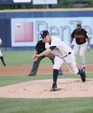 Scranton Wilkes Barre Yankees Greg Smith. Throws a pitch Royalty Free Stock Images