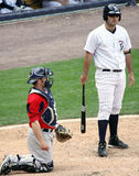 Scranton Wilkes Barre Yankees Jesus Montero. Steps to the plate Stock Images