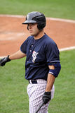 Scranton Wilkes Barre Yankees Jesus Montero. Scranton Wilkes Barre Yankees batter Jesus Montero stands in the batter's box Royalty Free Stock Photos