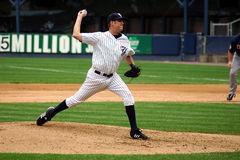 Scranton Wilkes Barre Yankees Pitcher. Pitching the ball Stock Photography