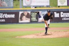Scranton Wilkes Barre Yankees pitcher Adam Warren. Throws a pitch Royalty Free Stock Photos