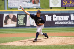 Scranton Wilkes Barre Yankees pitcher Adam Warren Stock Photos