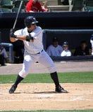 Scranton Wilkes Barre-Yankees zerschlagen Jesus Montero Lizenzfreie Stockfotos