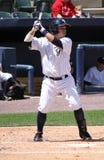 Scranton Wilkes Barre-Yankees zerschlagen Luis Nunez Stockbilder