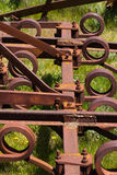 Scrap agricultural tool. Scrap agricultural rusty old industrial tool Stock Photography