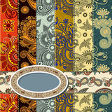 Scrap background patchwork technique Royalty Free Stock Images