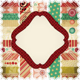 Scrap background with rhombus frame. stock illustration