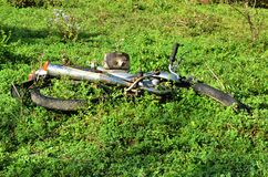 Scrap Bike In An Abandoned Land