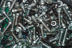 Scrap bolts and nuts Stock Photo